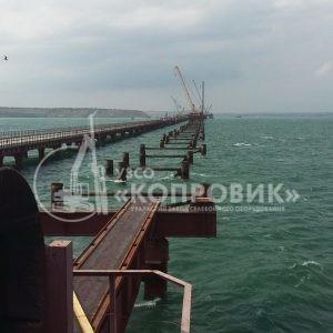 Монтаж сваебойного оборудования - Керченский мост