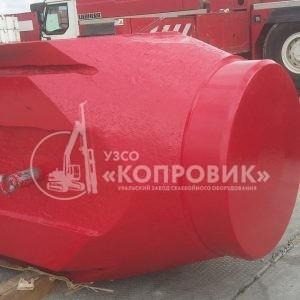 "УЗСО ""Копровик"", монтаж сваебойного оборудования, Гидромолот YC 40, корпус молота"