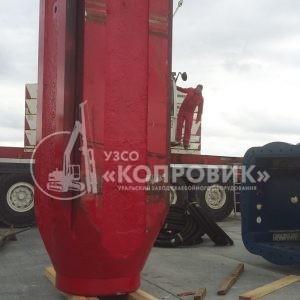 """УЗСО """"Копровик"""", монтаж сваебойного оборудования, Гидромолот YC 40, установка ударной части"""