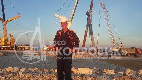 """УЗСО """"Копровик"""" выполняет шеф-монтаж сваебойного оборудования на строительстве Керченского моста"""