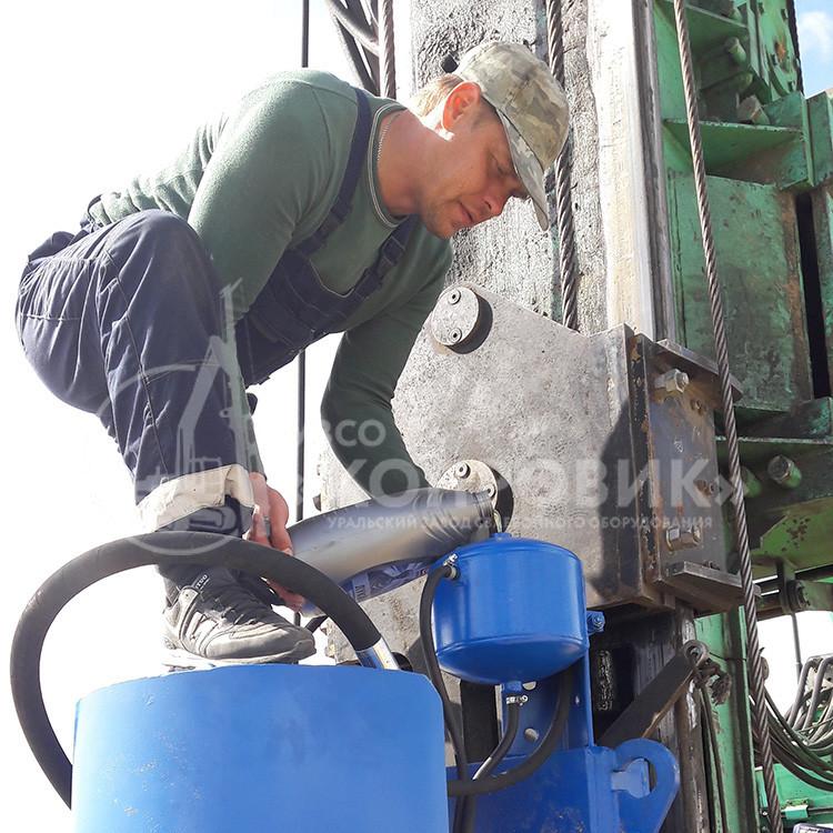 Монтаж гидровращателя ВБК 80 УЗСО