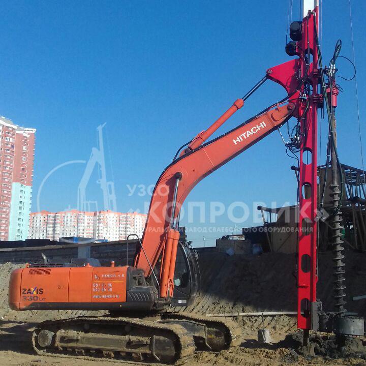 Мачта копровая МКЭ14Б-2СК с гидровращателем ВБК-60М, УЗСО