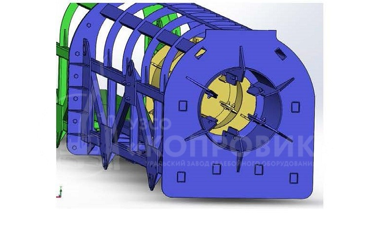 Конструктивные особенности клети для трубчатых дизель-молотов производства УЗСО