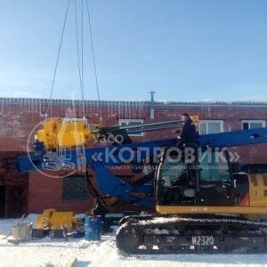 """Монтаж штангового дизель-молота HD-35 Kopernik - УЗСО """"Копровик"""""""