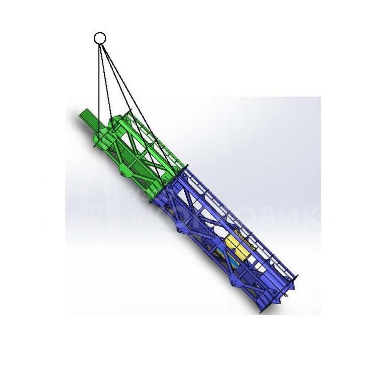 ПНС для трубчатых дизель-молотов: забивка свай под наклоном - УЗСО